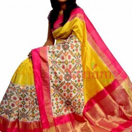 76a1251bdd Yellow pochampally Ikkat Sarees|pochampally ikkat silk sarees|ikkat ...