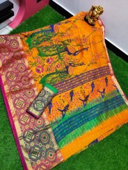 Chanderi soft silk printed sarees