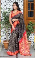Pure handloom ikkat silk sarees