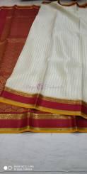 Pure mysore silk saree with shining butta work