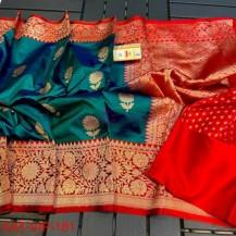 Pure banarasi katan silk sarees