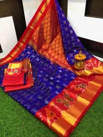 Kuppadam pattu sarees with pochampally border