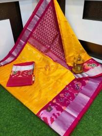 Handloom kuppadam pattu sarees with pochampally border