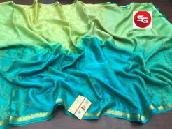 Pure mysore wrinkle crepe sarees with 3D color dyeing