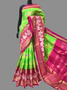 Handloom pure Ikkat silk sarees