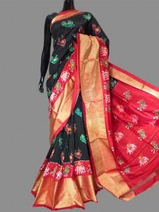 Pure ikat silk sarees