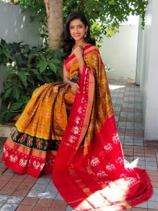 Handloom ikat sarees
