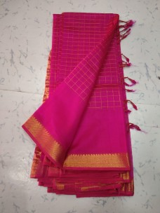 Mangalagiri pattu sarees with small border