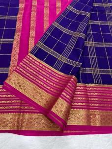 90 counts pure mysore silk crepe sarees
