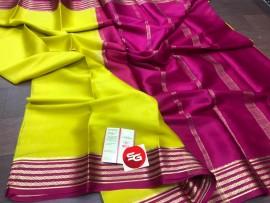 Pure Mysore silk crepe saree