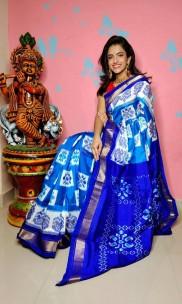 Pure handloom ikat silk sarees