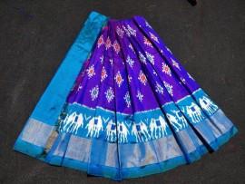 Pochampally ikat silk baby lehenga