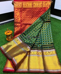 Kanchi kuppadam pletu border sarees