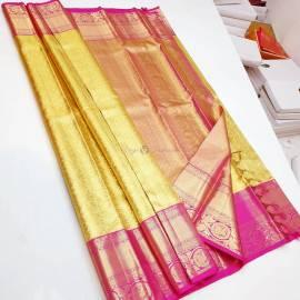 Handloom pure kanchipuram tissue silk sarees