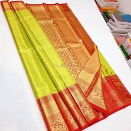 Pure handloom kanchipuram tissue silk sarees