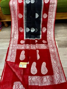Banarasi handloom khaddi Georgette chiffon sarees