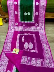 Pure banarasi handloom khaddi Georgette chiffon sarees