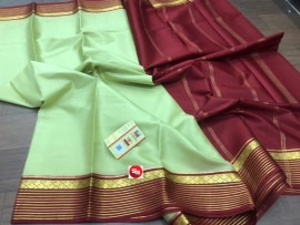 Lightweight mysore crepe silk sarees