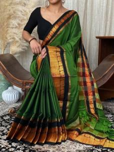 Mercerised narayanpet cotton sarees