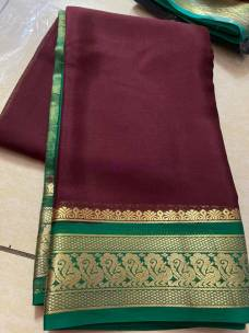 70 gram thickness pure mysore silk sarees
