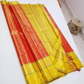 Handloom kanchipuram tissue silk sarees