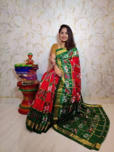 Special pochampally ikkat silk sarees with checks