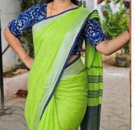 Pure linen by linen sarees
