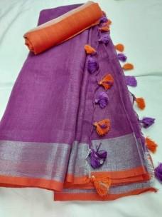 Handloom linen by linen sarees