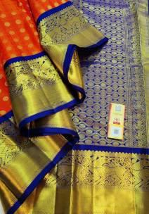 Handloom double warp pure kanchipuram silk sarees
