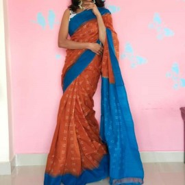 Handloom double ikat cotton sarees