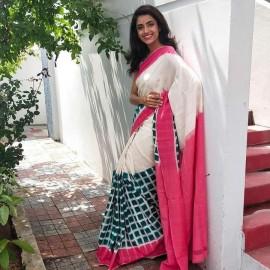 Handloom double ikat cotton sarees