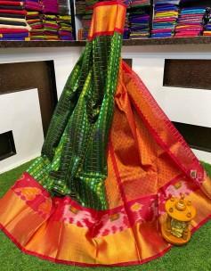 Kuppadam pattu pochampally border sarees