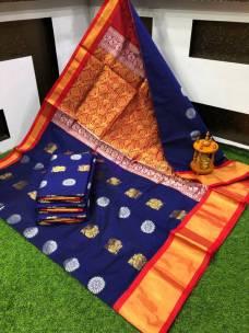 Chanderi kuppadam peacock butta sarees