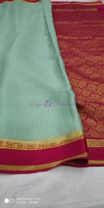 Pure mysore silk saree with shining butta work