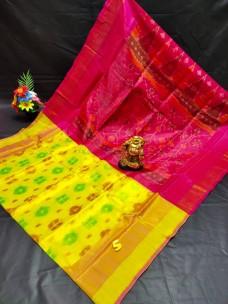 Light Weight uppada soft silk sarees with pochampally design