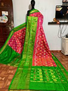 Ikkat silk sarees with special design border