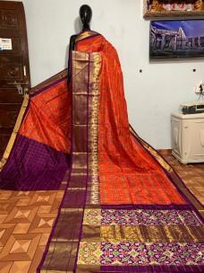 Ikkat silk sarees with special design border