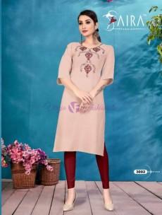 Heavy slub cotton embroidered kurtis