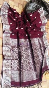 Handloom linen banarasi sarees
