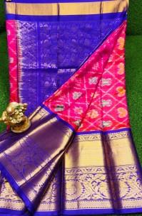 Pure pochampally soft silk pattu with kanchi border
