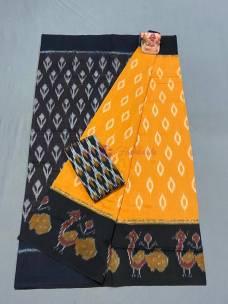 Latest mercerised ikkat cotton sarees