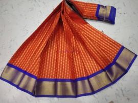 Mangalagiri pattu by cotton sarees with zari butti
