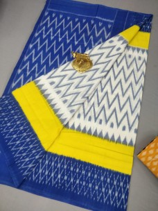Handloom ikkat mercerised cotton sarees