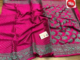 Pure crepe sarees with silk thread work