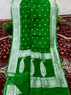 Pure handloom benaras chiffon sarees