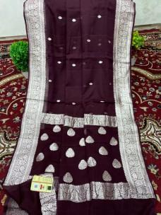 Pure benarasi chiffon sarees