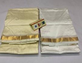 Pure silk Dhoti with Angavastram