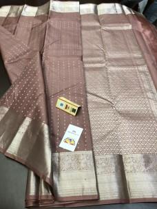 Pure kanchipuram silk sarees with silver zari