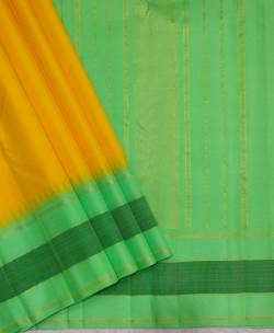Pure kanchipuram korvai border silk sarees