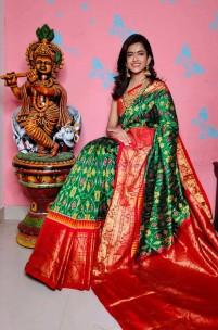 Pochampally ikkat silk kanchi border sarees